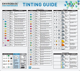 Envirobase High Performance Tint Chart Poster